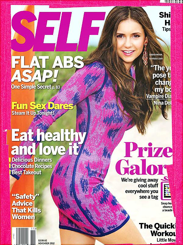 Nina Dobrev fera la couverture du magazine « Self » pour le mois de Novembre.