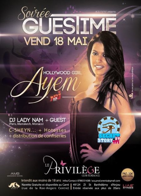 Ayem au Privil�ge d'Angers le 18 mai