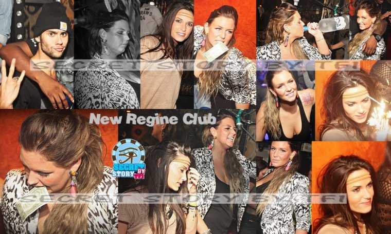 Simon, Capucine et Aur�lie au Regine Club